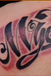 One Mynmayan got GF's name:Lettering tattoo