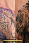Tribal style to Japanese half sleeve style